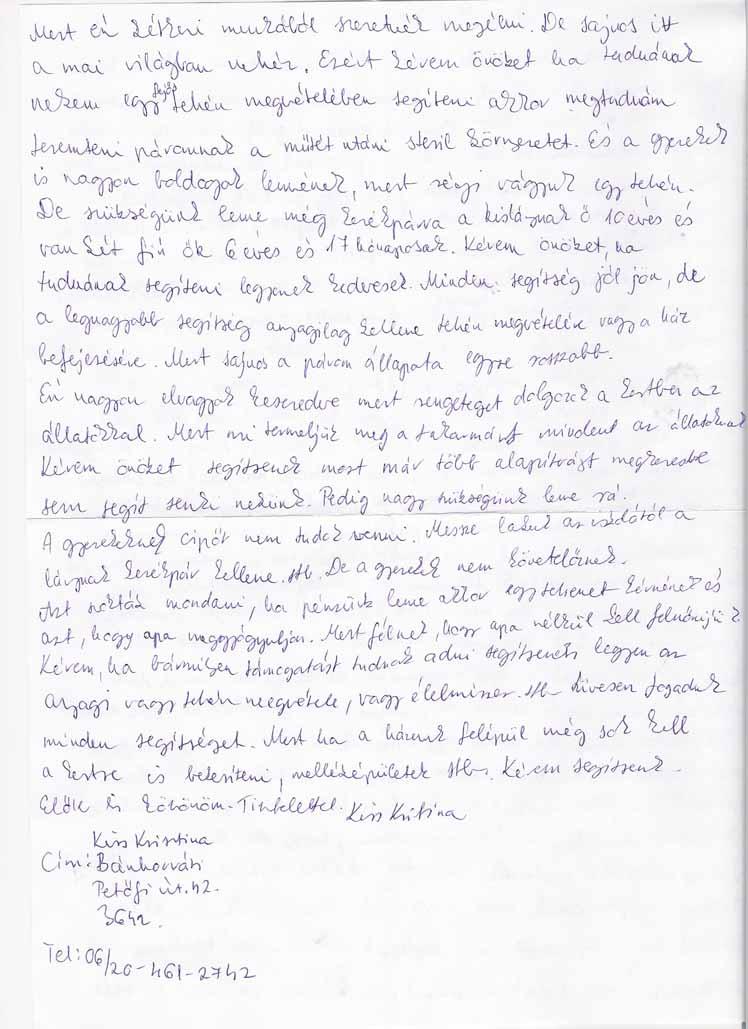 SOS Szolgálat Alapítvány Kiss Krisztina